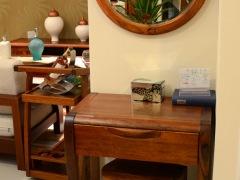 筑家家居 胡桃木全实木家具 G-6501梳妆台妆凳