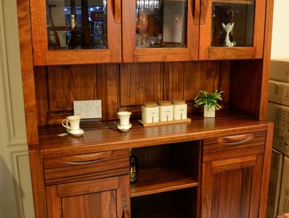 筑家家居 胡桃木全实木家具 G-6512餐边柜储物柜 餐柜