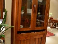 筑家家居 胡桃木全实木家具 G-6515两门酒柜 酒柜