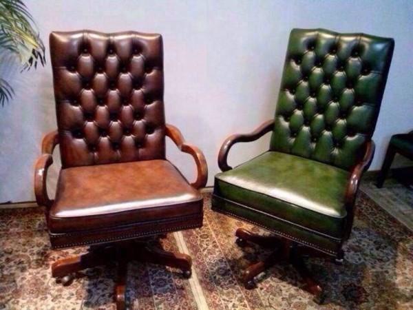 新款书椅」绿擦色,棕擦色的书椅两款