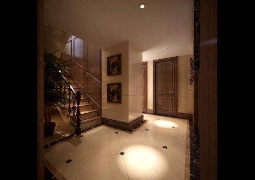 隐先生雅居美式古典风格 喜欢 0 简单的地面拼花,白色地砖的主要