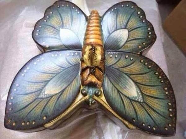 绿色蝴蝶首饰盒