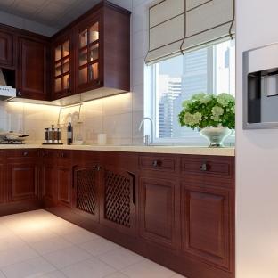 中式风格厨房吧台装修效果图欣赏图片