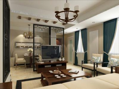 现代简约+中式-137.23平米三居室装修样板间
