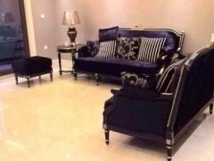 U04黑色休闲沙发