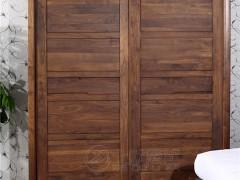 北欧篱笆纯北美黑胡桃衣柜纯实木衣柜大衣柜移门衣柜