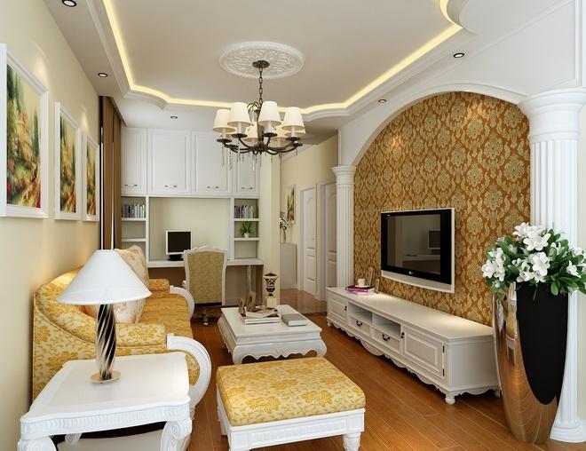 欧式风格-60平米二居室-装修样板间