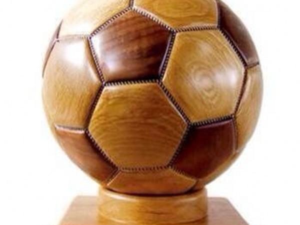 纯实木足球模型