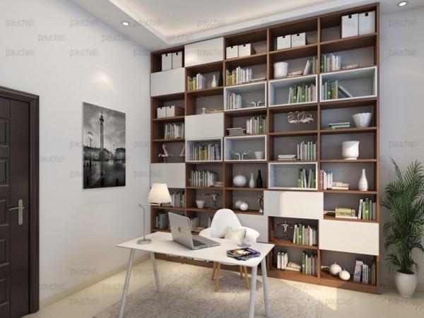 班尔奇魔方欧式风格书柜 定制书架 书柜定做 定制书桌书柜