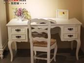 乐家巢简约法式白色书桌 书房宜家环保省空间 原装进口书桌