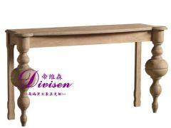 帝维森 出口法国全橡木边桌玄关 美式乡村玄关桌DWS-066