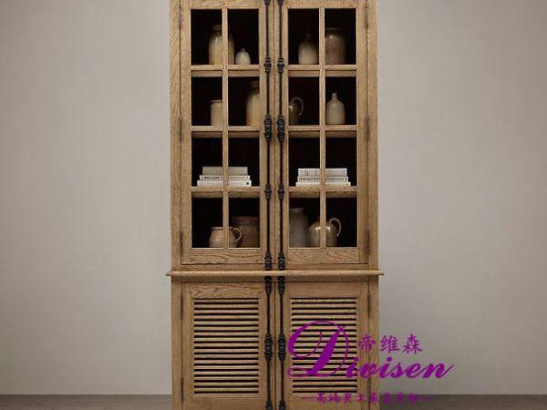 帝维森橱柜储物柜美式实木家具简约风格进口橡木DWS-088