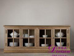 帝维森法式乡村经典复古实木 橡木储物柜 餐边柜DWS-116