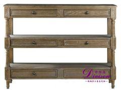 帝维森美式外贸出口复古实木家具餐边柜门厅柜玄关DWS-115
