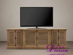 帝维森美式欧式仿古做旧橡木百叶门电视柜视听柜DWS-121