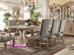帝维森美式乡村餐椅水曲柳实木带扶手椅无扶手餐椅DWS-157