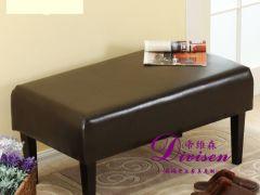 帝维森 美式皮艺长休息凳玄关沙发凳试换鞋凳DWS-152