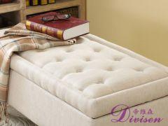 帝维森美式布艺床尾凳涤棉环保面料凳带拉扣换鞋凳DWS-144