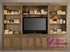 帝维森电视柜多媒体柜美式实木家具简约进口橡木DWS-098