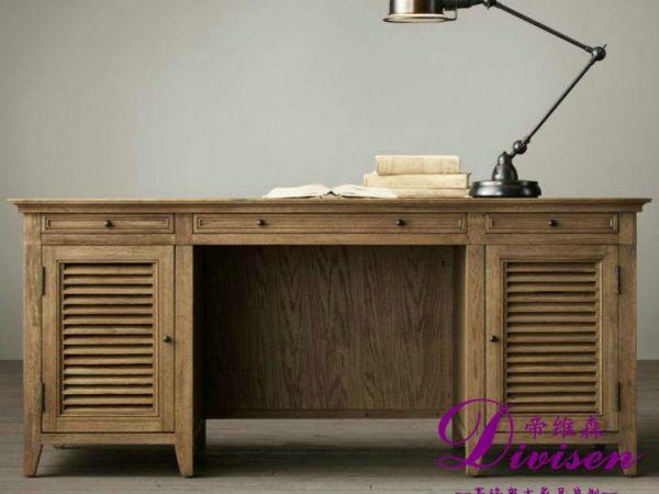 帝维森美式法式实木 欧式风格 复古风格 写字桌DWS-146