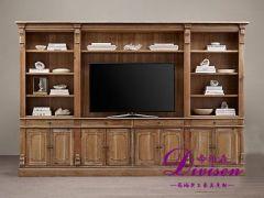 帝维森美式仿古书柜电视柜 复古做旧电视柜书柜 DWS-161