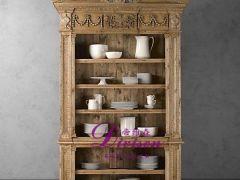 帝维森欧式实木雕刻多用柜 餐具柜 书柜 装饰柜DWS-189