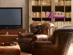 帝维森美式书柜 欧式复古实木书架外贸法式玻璃柜DWS-178