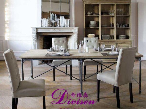 帝维森欧式橱柜餐边柜纯实木出口法国储物柜陈列柜DWS-188
