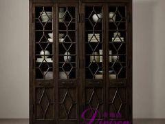 帝维森 法式客厅工业风格实木美式乡村餐边柜书柜DWS-183