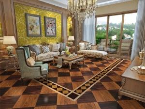 锦绣前程客厅地板系列――木之拼 卢浮印象