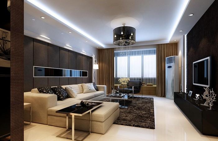 现代简约-96平米二居室-装修样板间