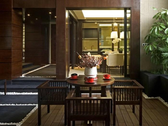 新中式风格-227.02平米四居室-装修样板间
