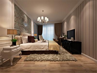 现代简约-76平米二居室装修样板间