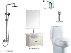 金牌卫浴浴室柜坐便器花洒简约套餐