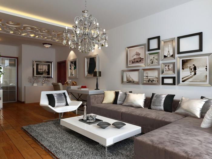 新古典风格-85.51平米二居室-装修样板间
