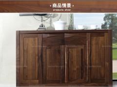 北欧篱笆 纯实木餐柜北美黑胡桃木实木家具简约现代全实木餐边柜