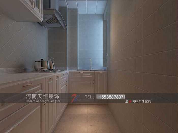 欧美风情-85平米二居室-装修样板间
