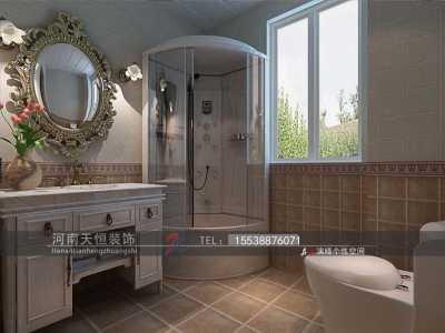 欧美风情-85平米二居室装修样板间