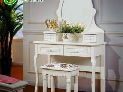 优家优乐 韩式田园梳妆台卧室 简约欧式实木梳妆台小户型化妆柜