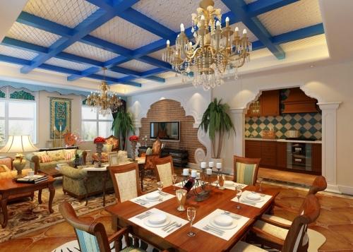 西山一號別墅阿拉伯風格裝修實景效果圖圖片