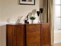 宜华家居纯实木高餐边柜欧式餐柜大餐厅储物柜现代简约J025