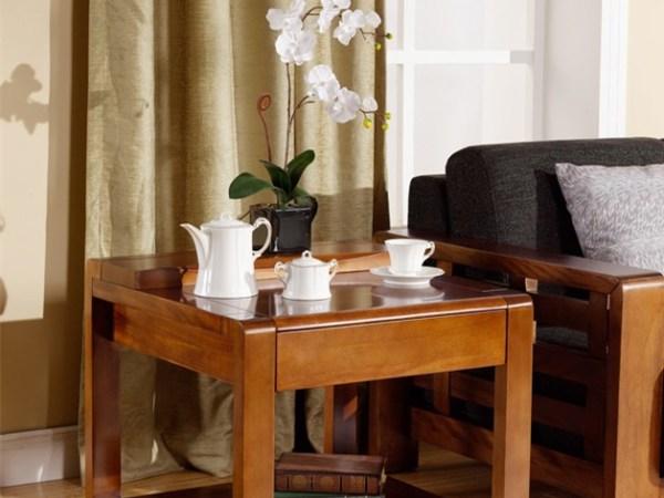 宜华家居 纯实木小方几角几 沙发边几现代简约实木家具J031