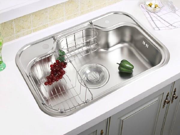 韩国白鸟水槽 DS740 原装进口厨房大单槽