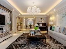新古典风格-170平米四居室装修图片