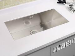 韩国白鸟 SQS780水槽 原装进口手工盆 都敏俊同款