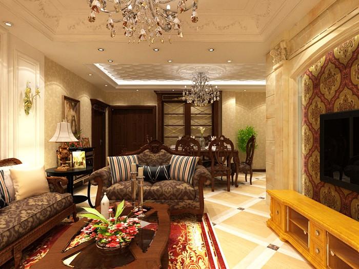 欧美风情-85平米二居室-装修设计