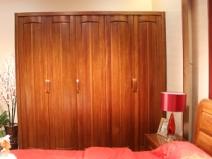【逛蠡口】木之家简约现代卧室纯实木3A05-5五门衣柜图片