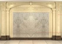 人造石卡布基诺背景墙图片