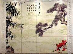 人造石丹枫白露背景墙
