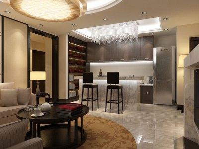 中式风格-360平米四居室装修设计
